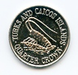 Turks & Caicos Islands KM51 1981 Quarter Crown coin uncirculated